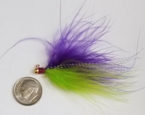 Erie Dearie 1//32 ounce Marabou Jigs Gamefish Killer Crappie Panfish Bluegill
