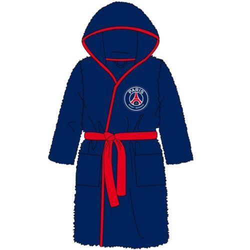Childrens Boys//Girls Football Fleece Robe Kids Dressing Gown Hood Age 3-12 Years