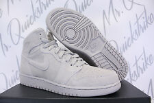 NIKE AIR JORDAN 1 RETRO HIGH GS SZ 7 Y SUEDE WOLF GREY 705300 031