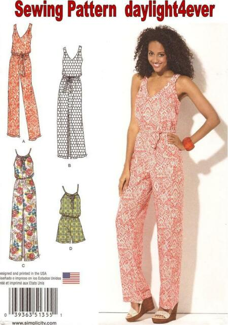 Simplicity 1355 Paper Sewing Pattern Misses Size 6 26 Maxi Dress