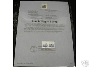 LUNCH-WAGON-STAMP-SOUVENIR-PAGE-SHEET-91-15