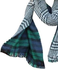 Femme écossais Tartan À Carreaux Grand Écharpe -Vert marine chk   eBay 749818395dd