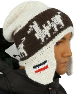 aa9d2260a4a NEW MONCLER FUNKY KNIT ALPACA WOOL LOGO BEANIE HAT ONE SIZE MADE IN ...