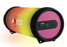 Axess Dancing LED Lights HiFi Bluetooth Rechargeable Speaker (Pink) SPBL1043PK
