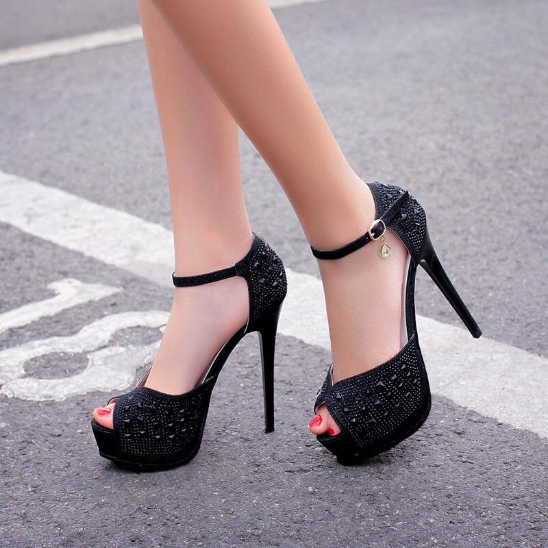 Sandali eleganti sabot stiletto 13 tacco cm tacco 13 nero  simil pelle eleganti 9895 52393a