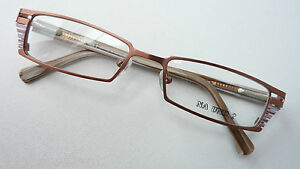 Na Und Brillen Fassung Metallrahmen Kupfer Schmal Damen Markengestell Grösse M Fest In Der Struktur Augenoptik Kleidung & Accessoires