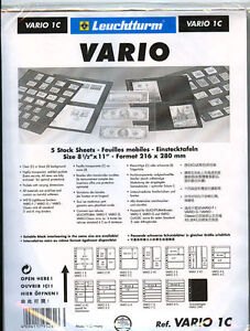 25-NEW-Lighthouse-VARIO-1C-stock-pages-clear-sheets-Free-Shipping