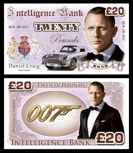 DANIEL Craig-James Bond banconote di fantasia