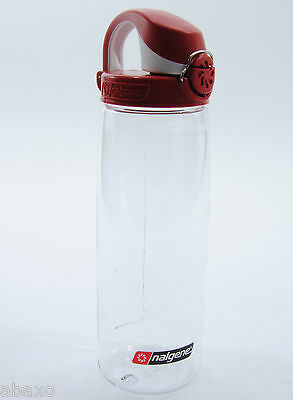Nalgene On The Fly Water Bottle, BPA-Free Plastic, Red/Clear