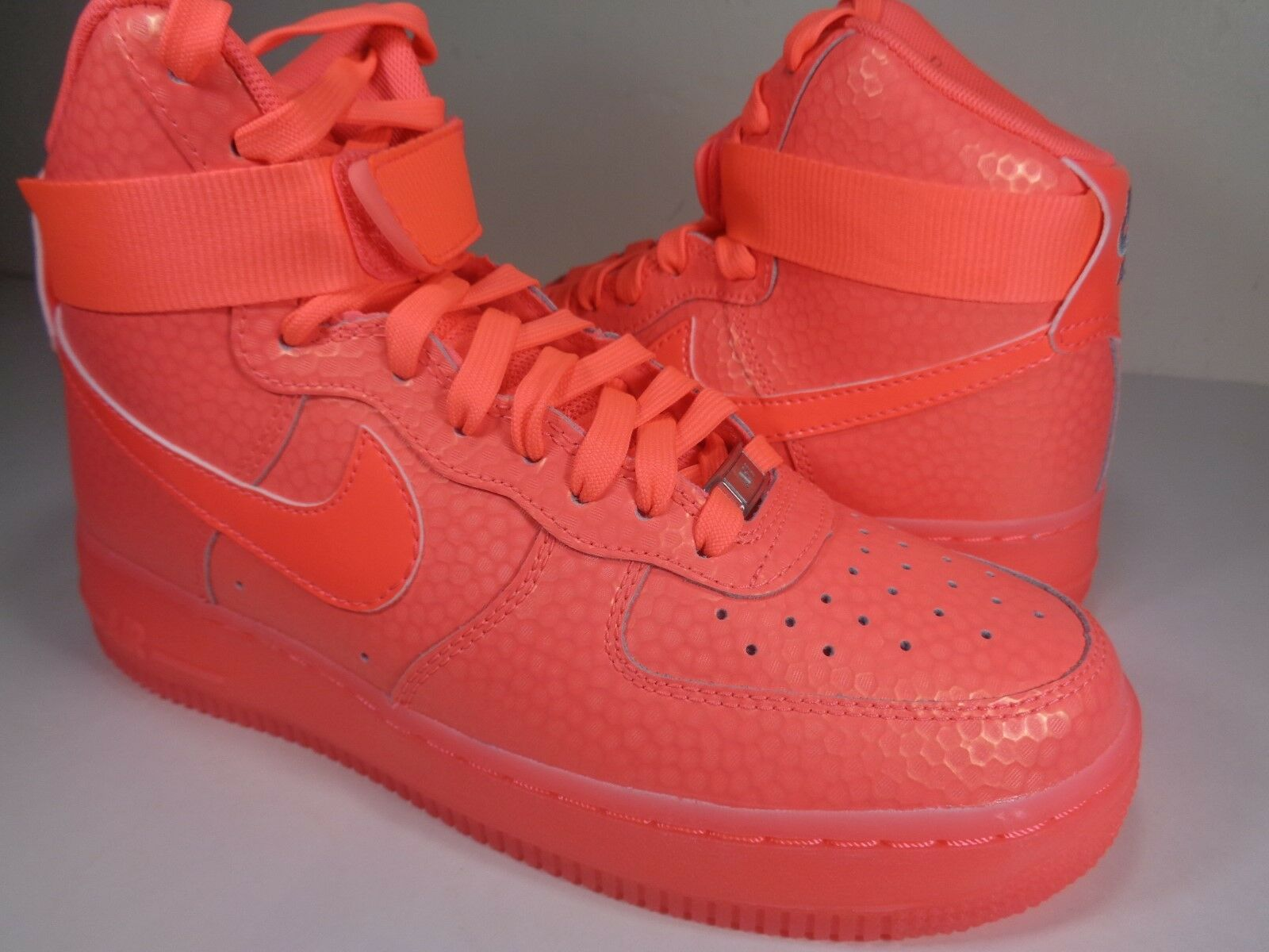 Womens Nike Air Force 1 Hi Premium Hot Lava Pink SZ 7.5 (654440-800)