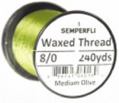 Semperfli Classic Waxed Thread 8//0 240 yrds Set of Three