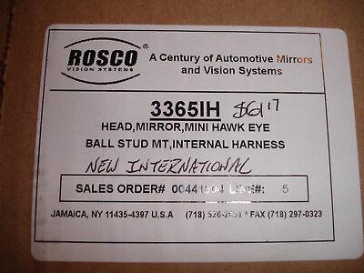 3365H 3365IH ROSCO 12X10 MINI HAWKEYE HEATED MIRROR INTERNATIONAL BUS MIRROR