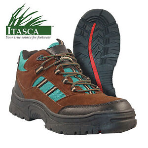 Itasca Brown/Green Saratoga Lace-Up Hiking Boots - Men's Size 10