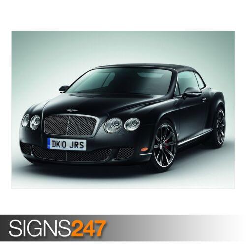 AB743 CAR POSTER BENTLEY CONTINENTAL GTC BLACK Poster Print Art A0 A1 A2 A3