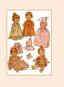 "Vtg 60s Toddler Little Girl Doll Clothing Pattern ~ 14/"" 15/"" Ruthie Patsy"