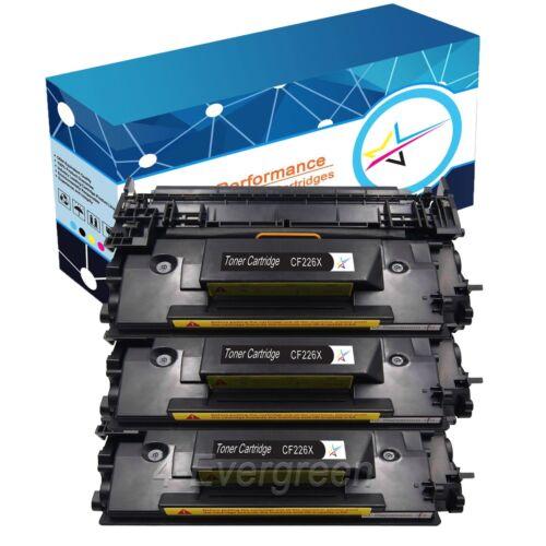 3 New Black Toner Lots for HP CF226X 26X Cartridges fits LaserJet Pro MFP M426dw