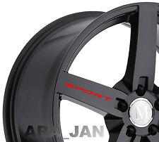 4 - SPORT Wheels Vinyl Decal Sticker Sport racing car rims wheel emblem logo RED