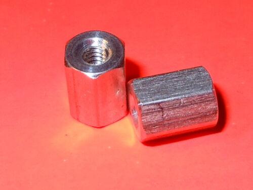 Standoff, Aluminum, 2-56 x 1/4 Long, 3/16 Hex, Female (F-F), Pk 100 Standoffs