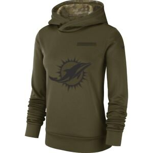 Hot New Nike Miami Dolphins 2018 Salute to Service Women's Therma Hoodie  free shipping