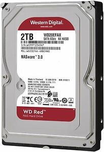 HARD DISK WD20EFAX  3,5 WESTERN DIGITAL RED 2TB SATA3 5400rpm 64MB EX WD20EFRX