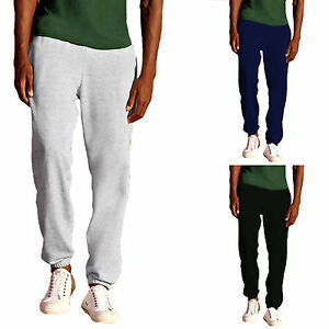 PANTALONE-TUTA-COTONE-UOMO-CON-FONDO-STRETTO-FRUIT-OF-THE-LOOM-PANTALONI-FELPATI