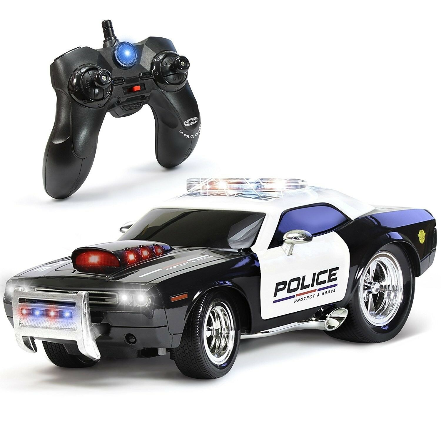 Remote Control RC Police Car Kids Toy Lights Sounds Boy Gift Pretend Play New