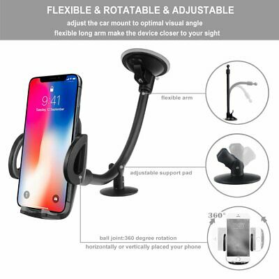 Magnetic Car Cell Phone Holder for Windshield or Windscreen Samsung Galaxy S10 S9 Note 10 9 LG EXSHOW Mobile Phone Suction Cup Mount with Long Arm for iPhone 11 Pro XS X 8 7 Plus Google ect