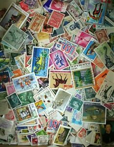 Huge-WorldWide-Mixture-Old-amp-Modern-Collection-10-000-stamps-60-Countries