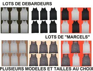 379b8a58864cc LOT 6 DEBARDEURS - MARCEL - HOMME -NOIR OU BLANC thsirt | eBay