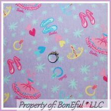 BonEful Fabric FQ Flannel Girl Barbie Doll Princess Dress Shoes Heart Star Ring