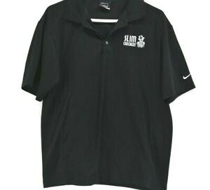 Nike-Golf-Men-039-s-Medium-Dri-Fit-Spring-Summer-Short-Sleeve-Polo-Shirt-Black