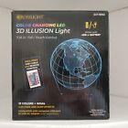 LED 3D Illusion World Earth Night Light 15 Color Changing Fade Jump CrossLight
