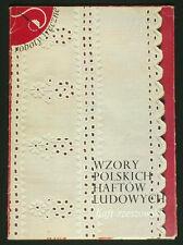 BOOK Polish Folk Embroidery pattern Rzeszow regional textile art costume POLAND