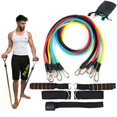 Fitnessbänder Sport Fitnessband Widerstandsband Gummiband Gymnastikband 5 Set