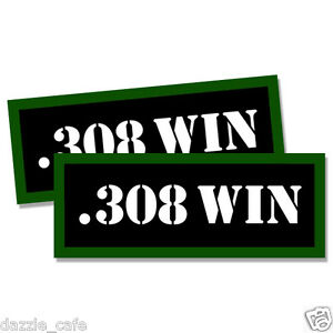 "243 WIN Ammo Can 2x Labels Ammunition Case stickers decals 2 pack 3/"" x 1.15/"""