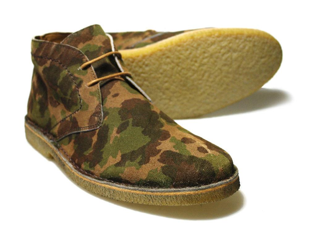 Delicious Junction Crowley Camoflado Suede Boots RRP  Free UK P&P