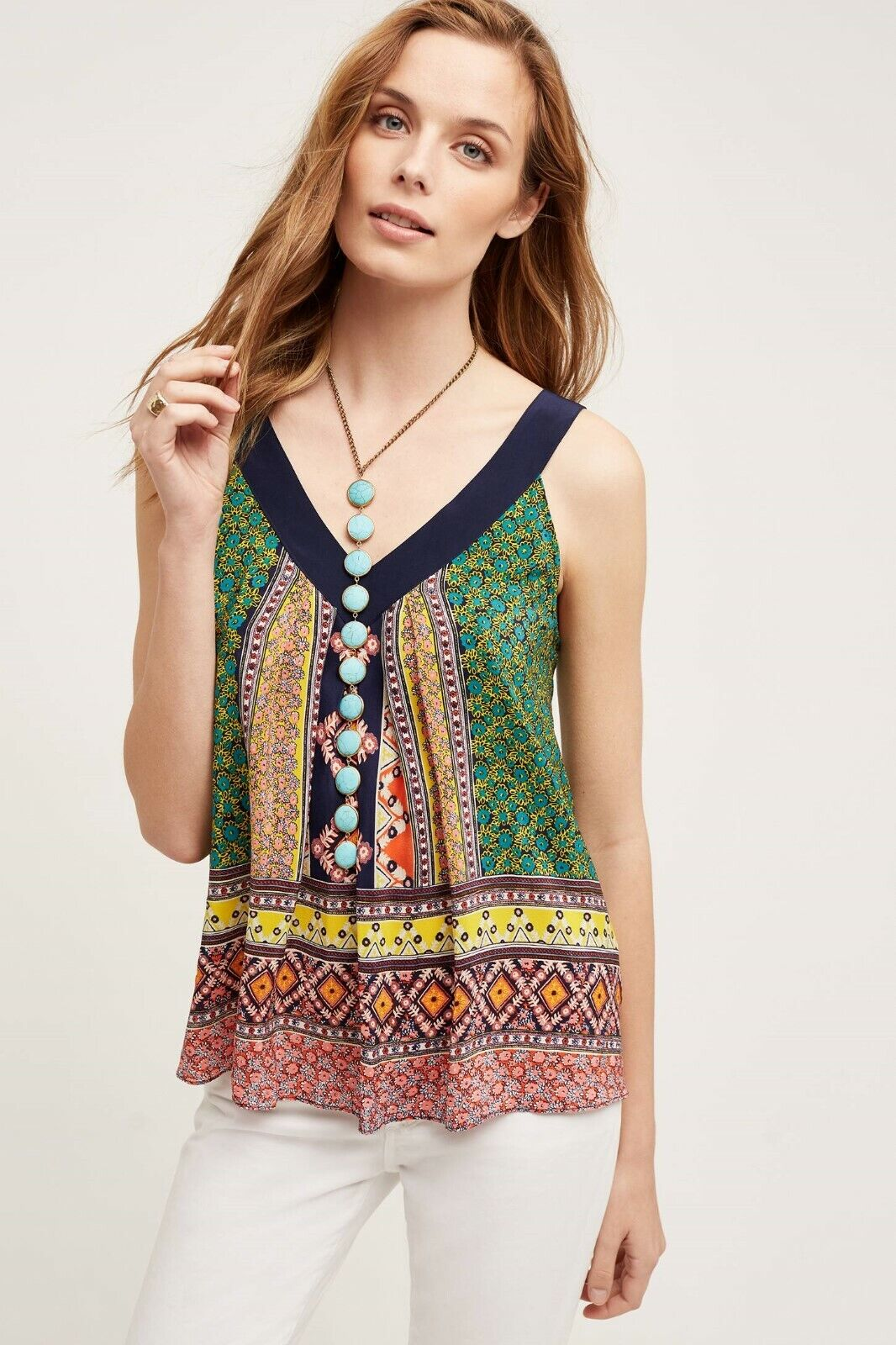 NEW Anthropologie Maeve Sapelo Tank Blouse Größe 6