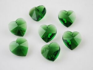 10pcs-10mm-Heart-Faceted-Crystal-Glass-Pendants-Loose-Spacer-Beads-Grass-Green