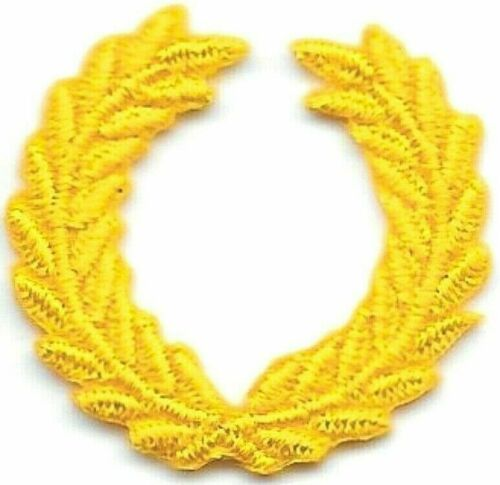 "1/"" SCA All Yellow Laurel Wreath Embroidery Patch"