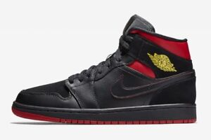 sneakers for cheap 65991 6f924 Details about Nike Air Jordan Retro 1 Mid Last Shot Black Red Yellow  554724-076 Size 8-13