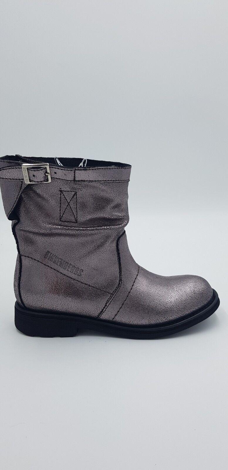 economico e alla moda BIKKEMBERGS - STIVALE STIVALE STIVALE BASSO LAMINATO DK grigio BKW102165 -40% DI SCONTO PROMO  risparmiare fino all'80%