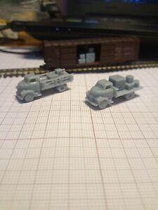 Escala Z Trem Em Miniatura 2x CARRETA TIPO PLATAFORMA Chevy Táxi sobre Engine 1949