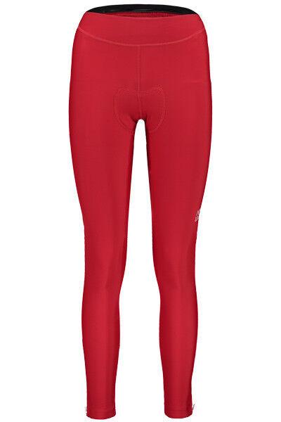 Maloja Pantalones Cortos de Bicicleta AlbrisM.1 1 Gamuza Rojo Ajustado