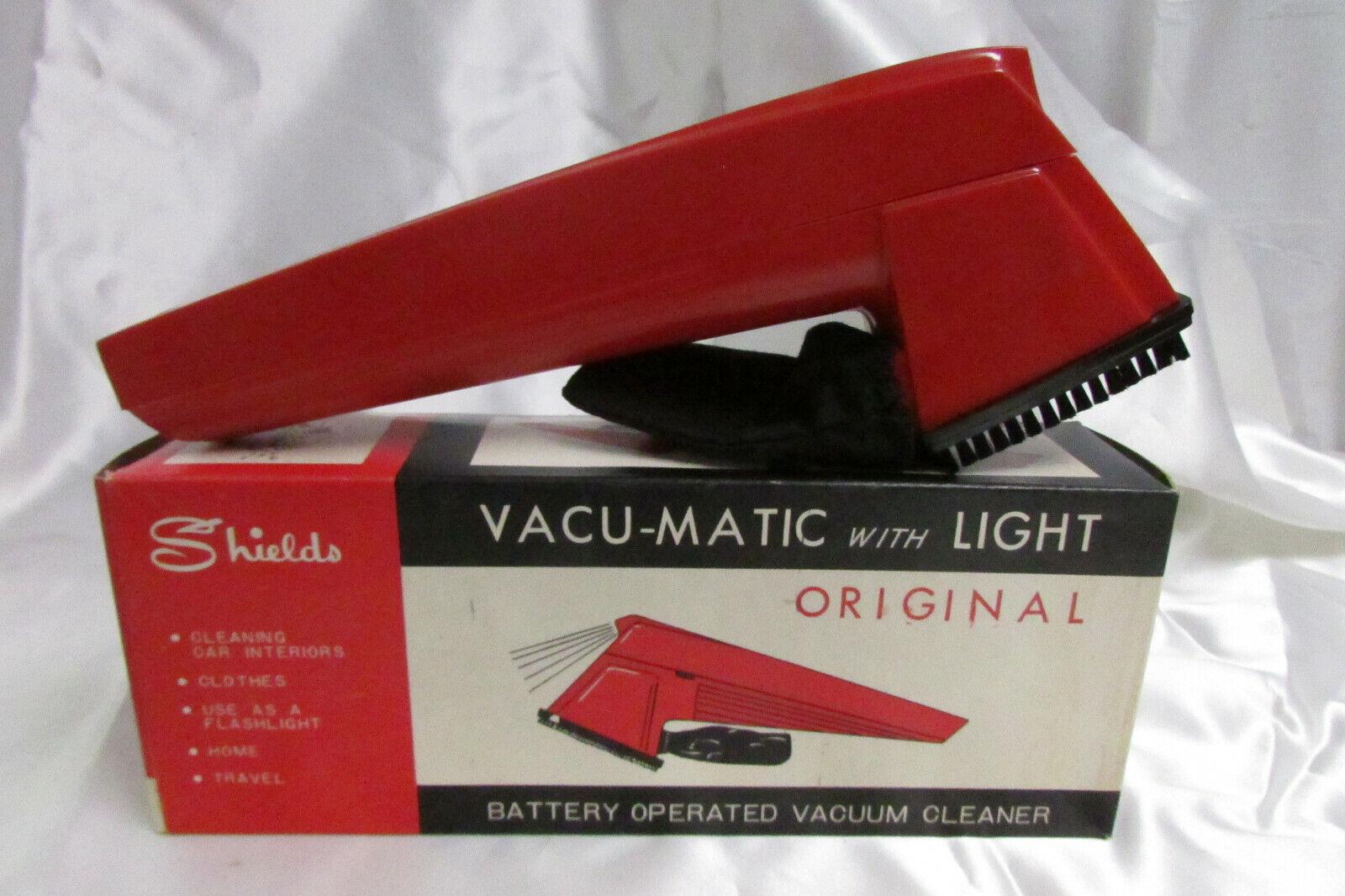 Rare 1950s Vacu-Matic Original Battery Vacuum Cleaner w  Box WORKING  4U3