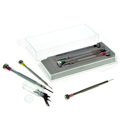 Details about  /Assortment of flat bladed Screwdrivers  Professional  0,6-2,0 mm in a plastic ca