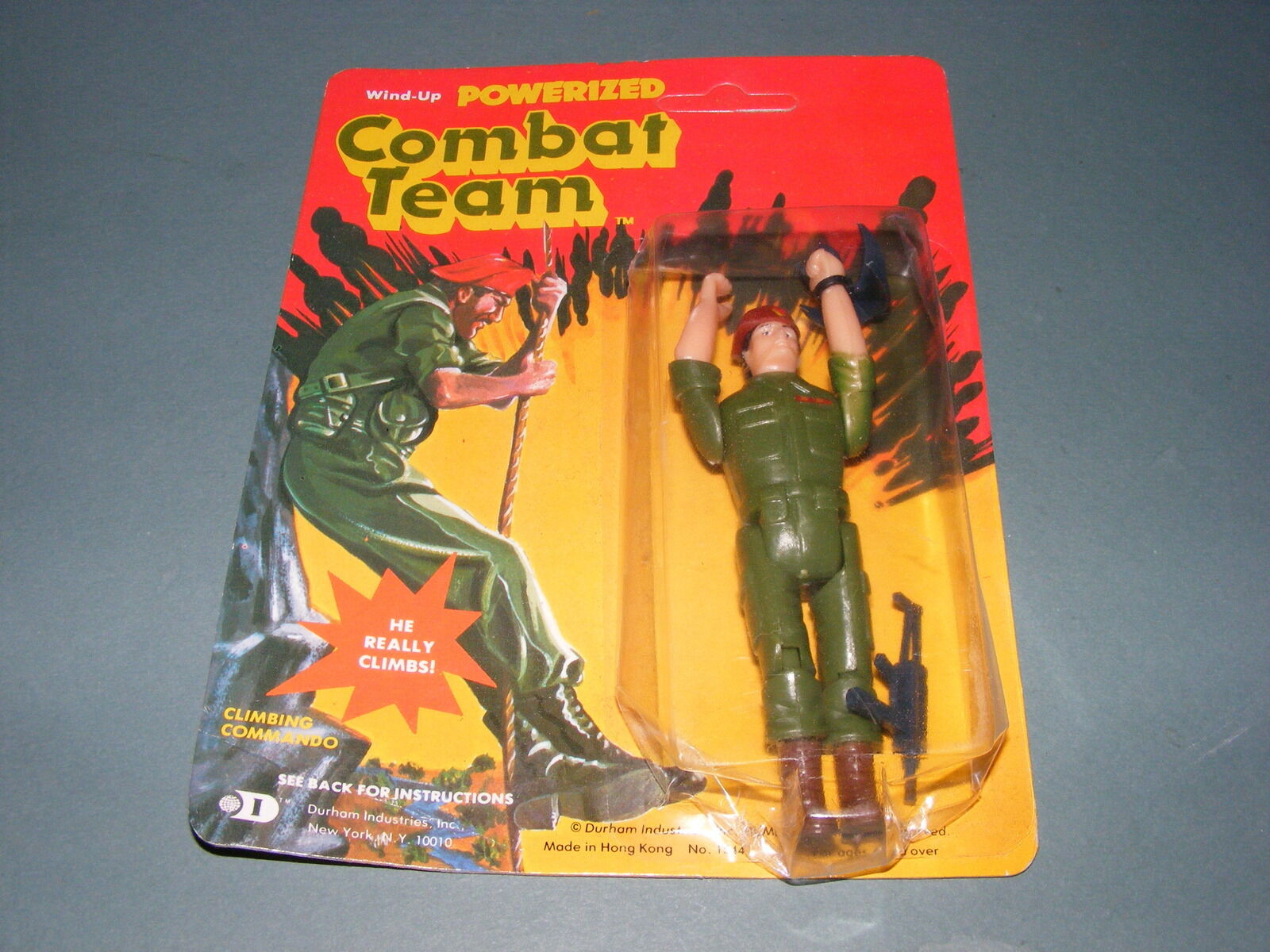 Vintage Wind Up Powerized Combat Team Action Figure NEW