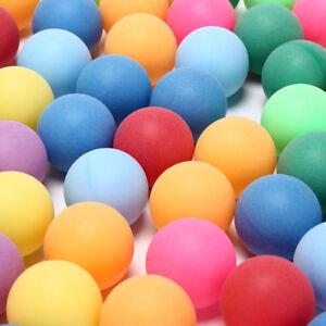 100Pcs/Pack Ping Pong Balls Entertainment Table Tennis Balls Mixed Colors  Z