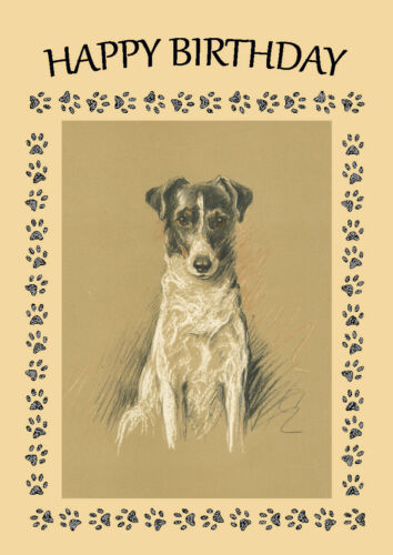 SMOOTH FOX TERRIER DOG BIRTHDAY GREETINGS NOTE CARD