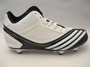 NEW Mens adidas Football Cleats Size 8 Scorch Thrill Mid D White Black Shoes