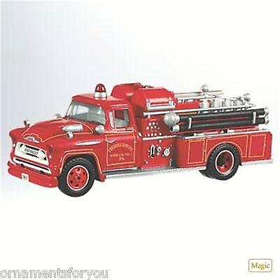 Hallmark 2011 1957 Chevrolet Fire Engine Crease in Box